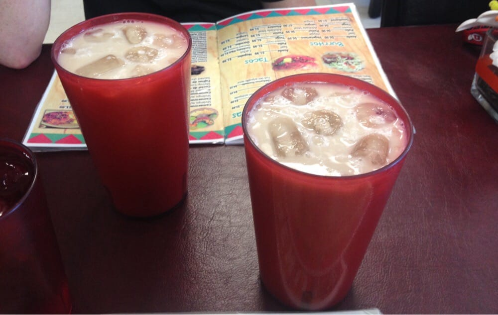 Horchata. Traditional Mexican drink. Mexican restaurant in Salt Lake City