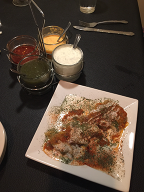 Salt Lake Cities best pumpkin mantu with spicy yogurt sauce