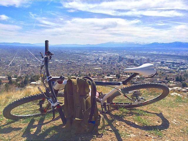 View of City from Bonneville Shoreline Trail, Salt Lake City, Utah