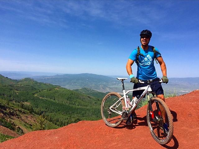 Mountain Biker on Wasatch Crest Trail, Utah