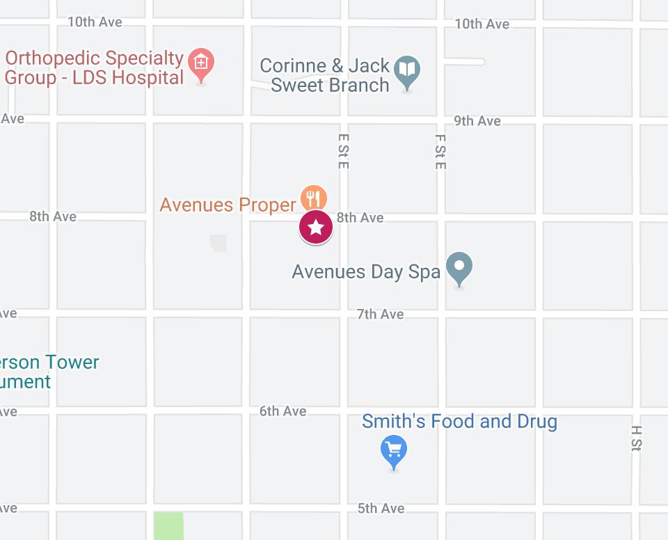 Best Brunch in Salt Lake City, Utah - Avenues Proper Map Location