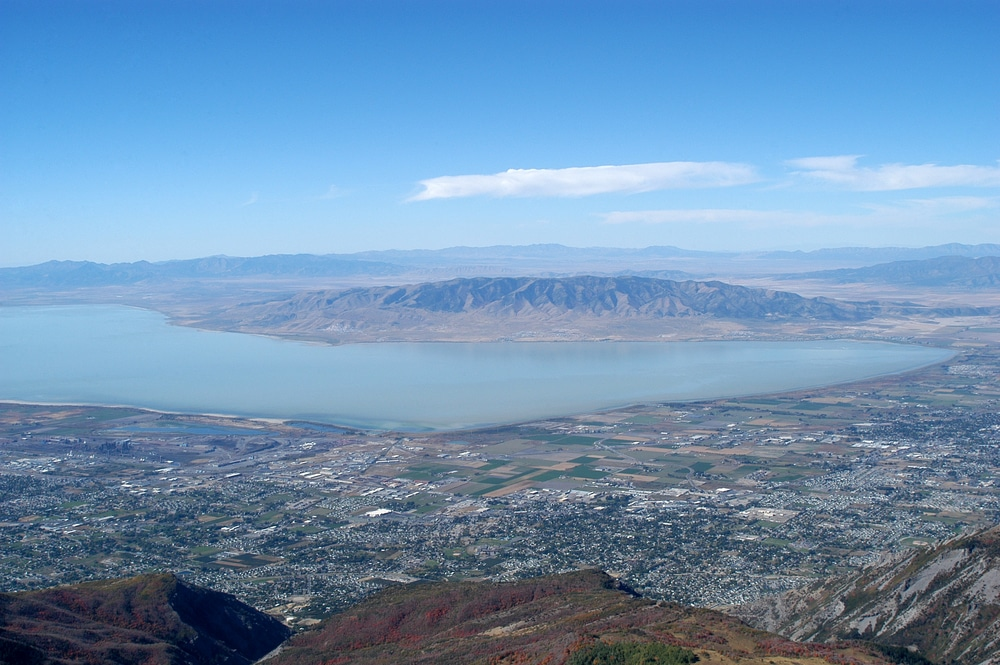 A birds-eye view of Utah Lake