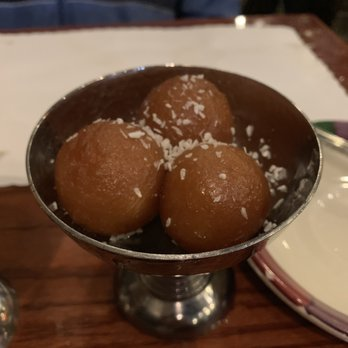 Gulab Jamun, sweet Indian desert, deep fried Indian donut.