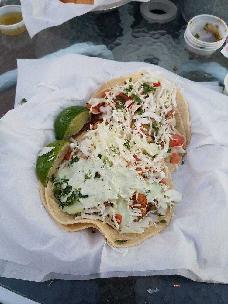 Lone Star Taqueria Menu Favorites, Fish Tacos.
