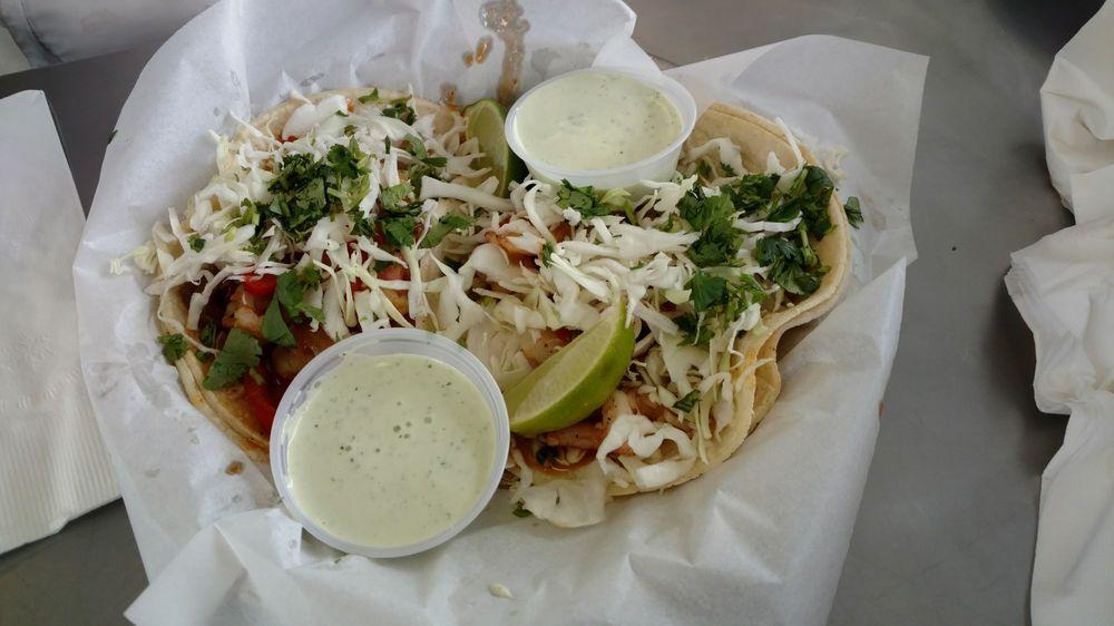 Lone Star Taqueria Menu Favorites, Shrimp Tacos.
