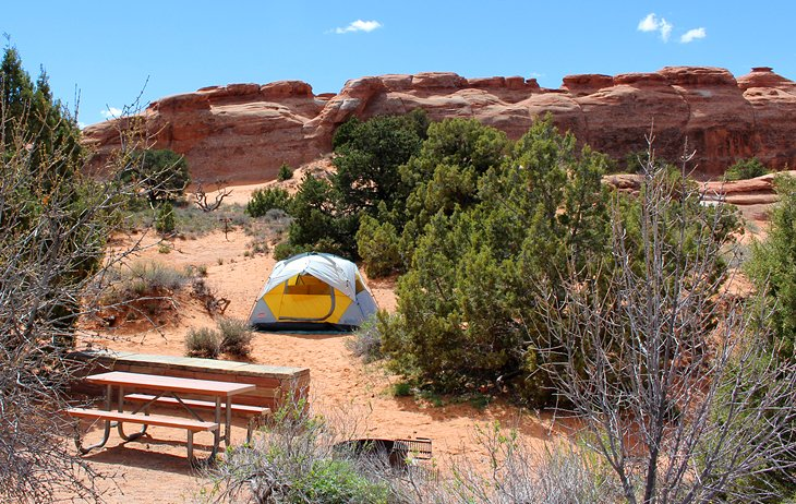 campground near moab