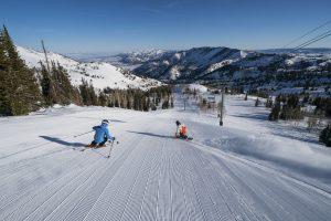Skiing on Utah Slopes