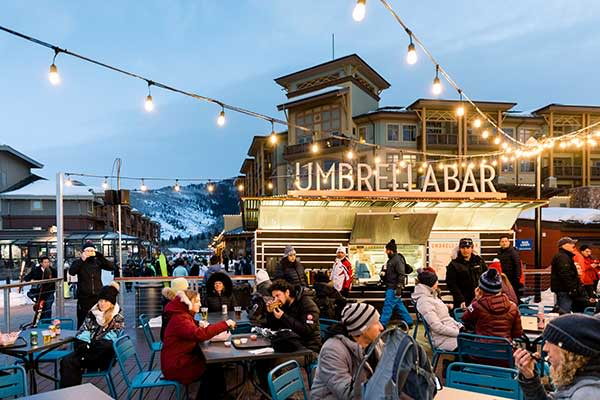 Apres-ski experiences at Park City Mountain Resort, one of Utah's favorite ski destinations