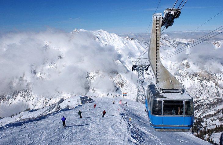 A tram from one of Utah's Ski Resorts